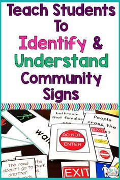 One of the life skills we need to work on with students is community signs. It's important that students not only know how to read the signs, but they also need to know what they mean. Here are some of the ways that we target the skills. Life Skills Lessons, Life Skills Activities, Teaching Life Skills, Teaching Special Education, Student Teaching, Teaching Strategies, Coping Skills, Teaching Tips, Life Skills Classroom