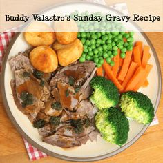 On Rachael Ray August 7 Buddy Valastro swung by the show to show us some of his italian cuisine, including a Sunday Gravy Recipe. Sunday Gravy, Sunday Sauce, Easy Vegetable Recipes, Buddy Valastro, Mint Sauce, Pot Roast, Roast Lamb, Cooking Recipes, Dinner