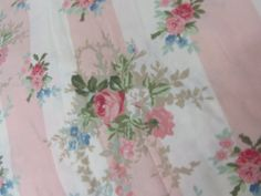 Laura Ashley OOP Isabelle Rose Fabric BHY Pink Roses  Isabelle Rose Fabric