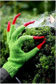 gespenstische Handschuhe