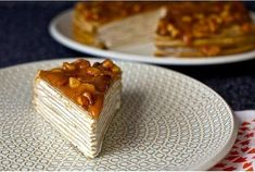 Шустрый повар.: Блинный торт из бананов с йогуртом и глазурью из грецкого ореха