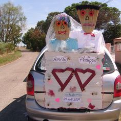 decoration mariage voiture balai