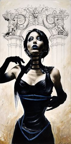 Menton J. Matthews III is a traditional artist living and working in Chicago, Illinois. Menton has had a lifelong interest in the relationship betwe Dark Gothic, Gothic Art, Vampires, Steampunk, Comic Book Artists, Dark Beauty, Goth Girls, Dark Art, Amazing Art