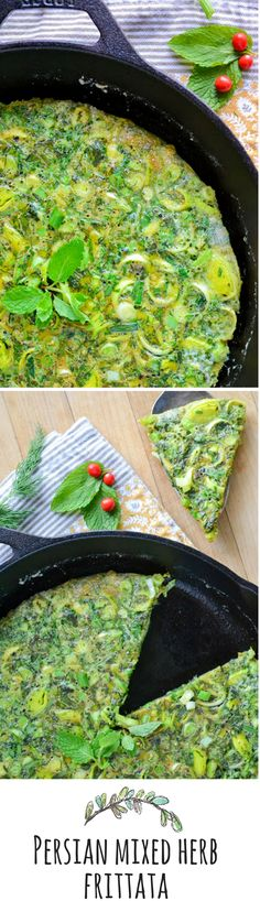 This is such a glorious egg dish, the fresh herbs give it fabulous flavor!