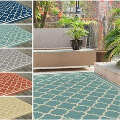 Create an old world influence with this striking Moroccan tile patterned area rug. Made with weather-resistant polypropylene fibers, this durable rug boasts bold color and pattern perfect for use in an outdoor room.