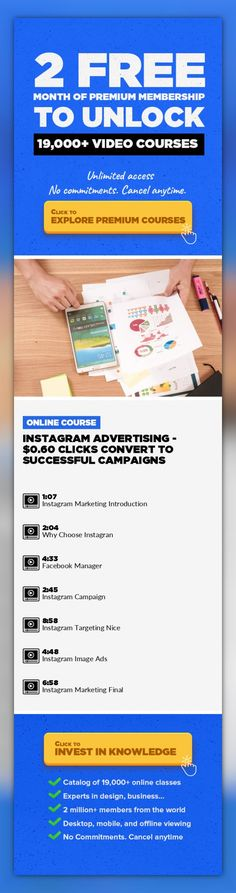 Instagram Advertising - $0.60 Clicks Convert To Successful Campaigns Entrepreneurship, Marketing, Business, Photographic Composition, Digital Photography, Social Media, Instagram, Lifestyle Photography #onlinecourses #onlineclassesorganization #onlinecollegesupplies   Hello guys, Welcome to the course on Instagram Ads Tips & Tricks - $0.60 Clicks That Convert To Successful Campaigns This creating...
