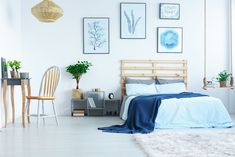 Every homeowner wants to impress guests with their home's interior design. As flooring industry leaders, we get it. A house is your opportunity to put your creative ideas into action. The bedroom i… Bedroom Bed, White Bedroom, Ikea Magazine, Cool Tones, Vintage Design, Beautiful Bedrooms, Apartment Design, Malm, Lounge