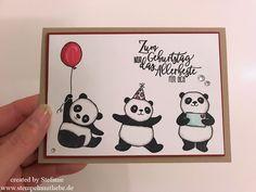 Stampin Up - Global Design Project - #113 - GDP #113 - Geburtstag - Birthday - Stempelset Party-Pandas - Sale-A-Bration - Geburtstagskarte - Karte - Card ♥ StempelnmitLiebe