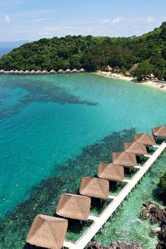Overwater bungalows never get old. Apulit Island Resort (Apulit Island, Philippines) - Jetsetter