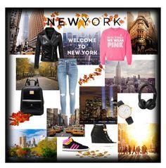 """Autumn in New York"" by asya-ramazanova ❤ liked on Polyvore featuring TAXI, Chicnova Fashion, adidas, Giuseppe Zanotti, Kate Spade, autumn and innewyork"