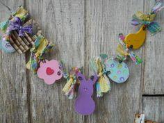 Spring Easter PEEP Garland SFOFG by PaintspotsnSplinters on Etsy, $13.95