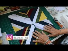 Bloque de Quilting con Retazos de Telas - YouTube Patches, Youtube, Make It Yourself, Quilts, Videos, Feltro, Country Quilts, Patchwork Designs, Quilt Blocks