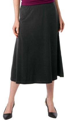 Collections Etc - Versatile A Line Elastic Waist Black Skirt           ($9.97)