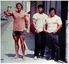 Legends; Arnold Schwarzenegger, Bill Grant, Franco Columbu.