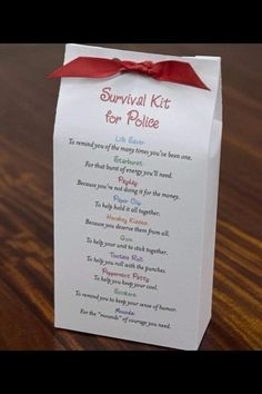 Nice little gift to show appreciation for police officers you know. This would…