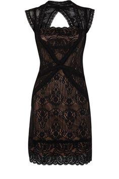 Contrast Lace Dress $90