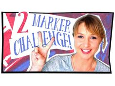 FUNKY 2 MARKER DRAWING CHALLENGE! - YouTube