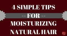 Keeping hair properly moisturized, whether you have natural hair or relaxed hair, can be very challenging, especially during the winter. If you find yourself constantly struggling with moisture, have a look at these moisture tips.  #naturalhair, #transitioninghair, #relaxedhair, #haircare, #type4hair, #teamnatural