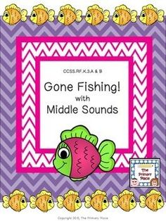 The Gone Fishing with Middle Sounds Center Game created by The Primary Place is ideal for Pre-K - 1st grade. There are 10 pages in this PDF file. You can make this a center or create enough for the class to do this activity at the same time in small groups.
