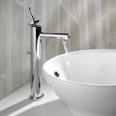 Top 10 Vessel Sink Faucets The Brushed nickel vessel sink faucet with single handle is over 10 inches high after installation, which is enough for the vessel sinks. It has one handle with the common water hose that can be used for both hot and cold water.