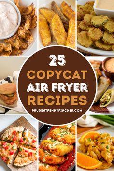 Air Fryer Recipes Appetizers, Air Fryer Oven Recipes, Air Frier Recipes, Air Fryer Dinner Recipes, Copycat Recipes, Crockpot Recipes, Cooking Recipes, Cooks Air Fryer, Air Fried Food