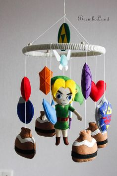 Nintendo The Legend of Zelda Baby Crib Felt Mobile Nursery