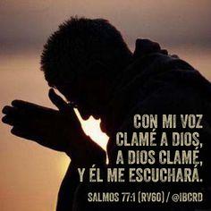#Salmos 77:1 #RV60 #MASDETIenmi #Versículo #Biblia #Palabra #Dios
