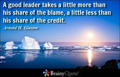 Great thought on leadership