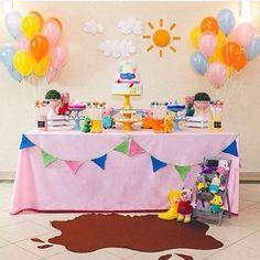 Festa fofíssima da Peppa Pig, adoro! By @maria_formiga 🐷☀️#kikidsparty