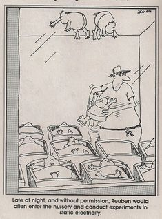 """The Far Side"" by Gary Larson.  Dammit, Reuben!"