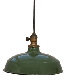 vintage enamel barn lighting WE HAVE ONE OF THESE SHADES IN BASEMENT...BETTER BRING IT UP!!