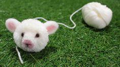 DIY Fluffy sheep mascot 動物ぽんぽん ひつじ