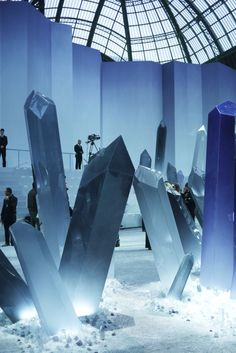 """The """"crystal"""" studded Fall 2012 Chanel show runway"""