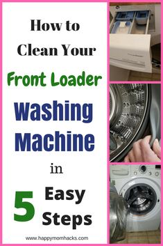 Does your front load washer smell? Learn how to create your own DIY Washing Machine Cleaner with Bleach and Vinegar. You won't believe how easy it is to clean a washing machine with this hack.