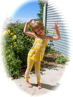 Long sleeve shirt into children's play wear tutorial