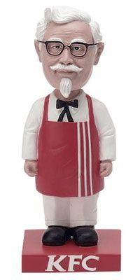 Colonel Sanders Bobble Head Plastic 1967 $75 Dancing Toys, Colonel Sanders, Wacky Wobbler, Yes Man, Kentucky Fried, Vintage Restaurant, My Old Kentucky Home, Vintage Branding, Vintage Country