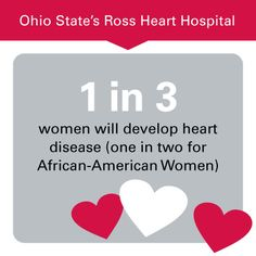 Did you know 1 in 3 #women will develop #heartdisease ? Learn how to protect your heart:  http://go.osu.edu/osuheart