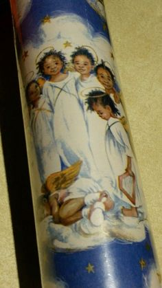 RARE African American Black Christmas Angels Wrapping Paper Roll 100 Sq Feet! in Collectibles, Holiday & Seasonal, Christmas: Modern (1946-90), Other Modern Christmas | eBay
