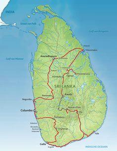 Routekaart Discover Sri Lanka