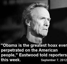 Clint represents the ideal rugged, indivualist who succeeded through hard work to achieve the American Dream. What red-blooded man or woman doesn't love the Outlaw Josey Wales or Dirty Harry? Eat your heart out Hollywood.