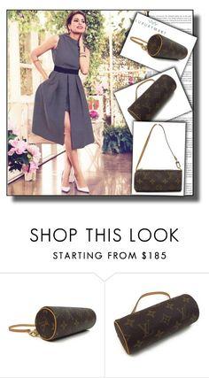"""Louis Vuitton Monogram Pochette Mini Papillon"" by jnatasa ❤ liked on Polyvore featuring Louis Vuitton"