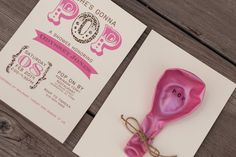 POP Baby Shower Invitation She's gonna POP by Little1Paperie