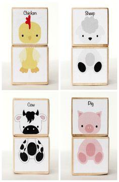 Create silly animals :) Animal Blocks. #preschool #kidscrafts (pinned by Super Simple Songs)