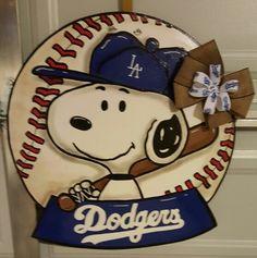 Dodger Snoopy door hanger