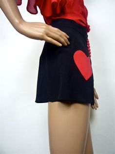 A HANDMADE HUZZAR DESIGN ORIGINAL  Valentines day Camiknickers in Crepe and heart by HuzzarHuzzar, £36.00