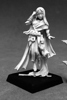 Pathfinder Miniatures (Rivani, Iconic Psychic on sale now at Dark Elf Dice! Need Pathfinder Miniatures? We have a great selection of RPG minis for your favorite RPGs. Reaper Miniatures, Fantasy Miniatures, Pathfinder Rpg, Dark Elf, Metal Models, Dungeons And Dragons, Minis, Dice, Legends