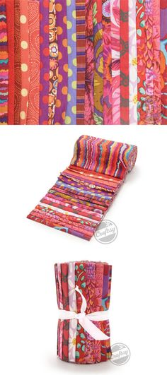 """35% off Kaffe Fassett 6"""" Strips (Lava). Click the image or: http://www.craftsy.com/ext/20121204_FabricPin3"""