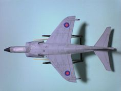 Sea Harrier - all the model planes on this site are designed to actually fly.
