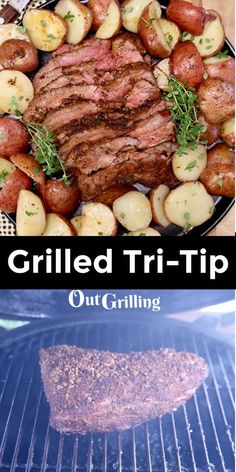 Grilled Tri-Tip is flavorful and juicy steak that is perfect for feeding the whole family. Just add your favorite dry rub and you will be set for a delicious meal. Easy Steak Recipes, Grilled Steak Recipes, Grilled Veggies, Grilling Recipes, Roasted Olives, Tri Tip, Juicy Steak, Smoked Brisket, Smoked Turkey