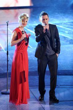 Emma Marrone and Francesco 'Kekko' SIlvestre of Modà attend the 61th... Foto di attualità 109242306